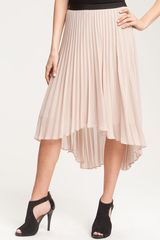 Pleione Pleat Chiffon Skirt with High/low Hem - Lyst