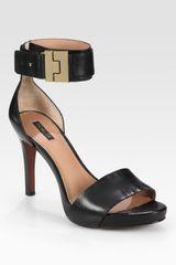 Rachel Zoe Stevie Leather Platform Sandals