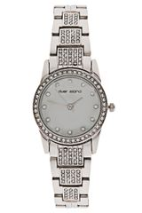 River Island Silver Crystal Link Watch - Lyst