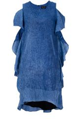 Sonia Rykiel Frill Sleeve Dress - Lyst