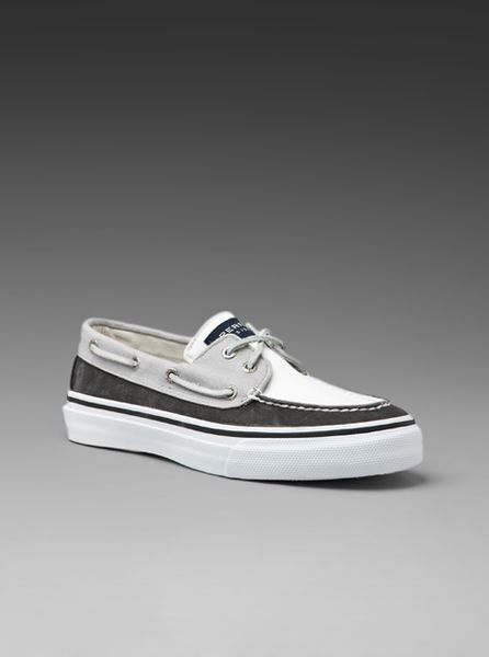 Sperry Men S Bahama  Eye Shoes Black White Grey