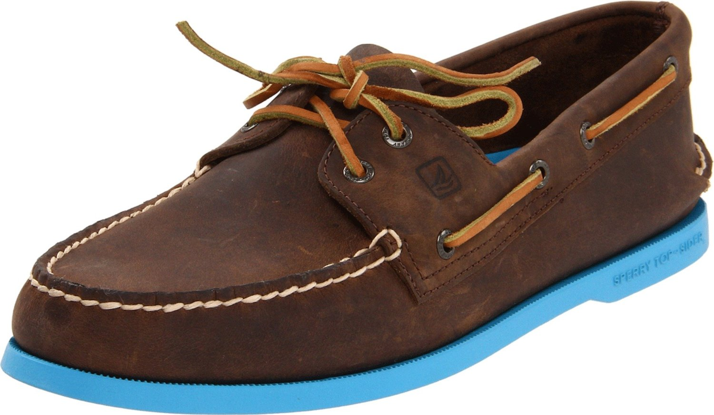 Sperry Top-sider Mens Ao 2 Eye Boat Shoe in Brown for Men (dark brown