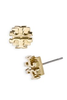 Tory Burch Small Logo Stud Earrings - Lyst