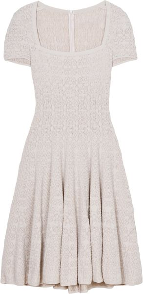 Alaïa Muguet Square Neck Dress - Lyst