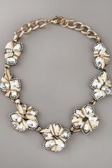 Fragments Crystal Bib Necklace - Lyst