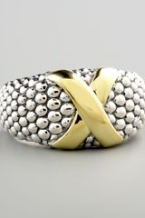 Lagos Mixed-metal Caviar Ring - Lyst