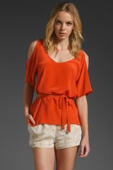 Laugh Cry Repeat Open Shoulder Top - Lyst