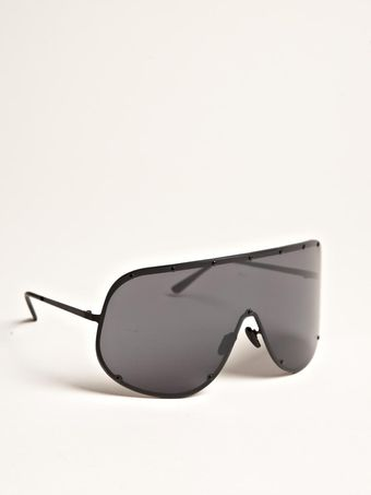 Rick Owens Oversized Black Sunglasses - Lyst