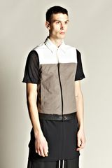 Rick Owens Mens Sleeveless Worker Jacket - Lyst