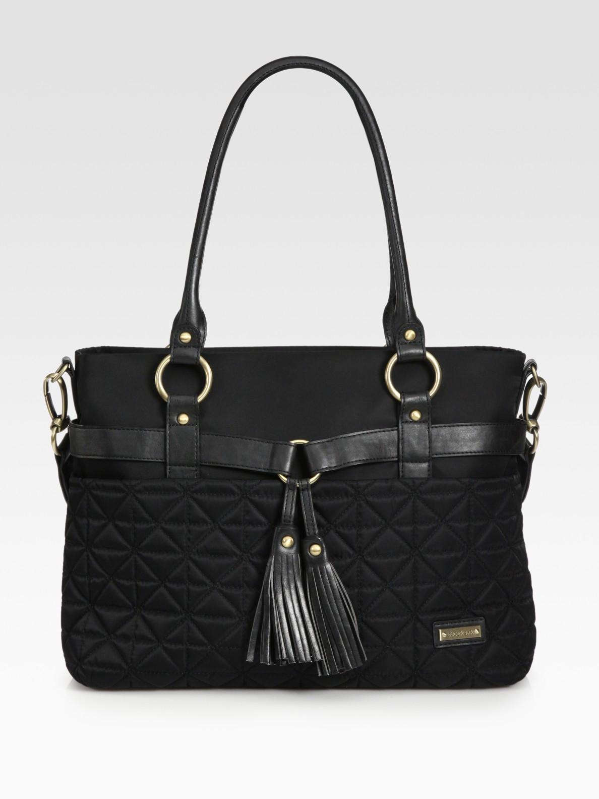 lyst storksak isabella quilted baby bag in black. Black Bedroom Furniture Sets. Home Design Ideas