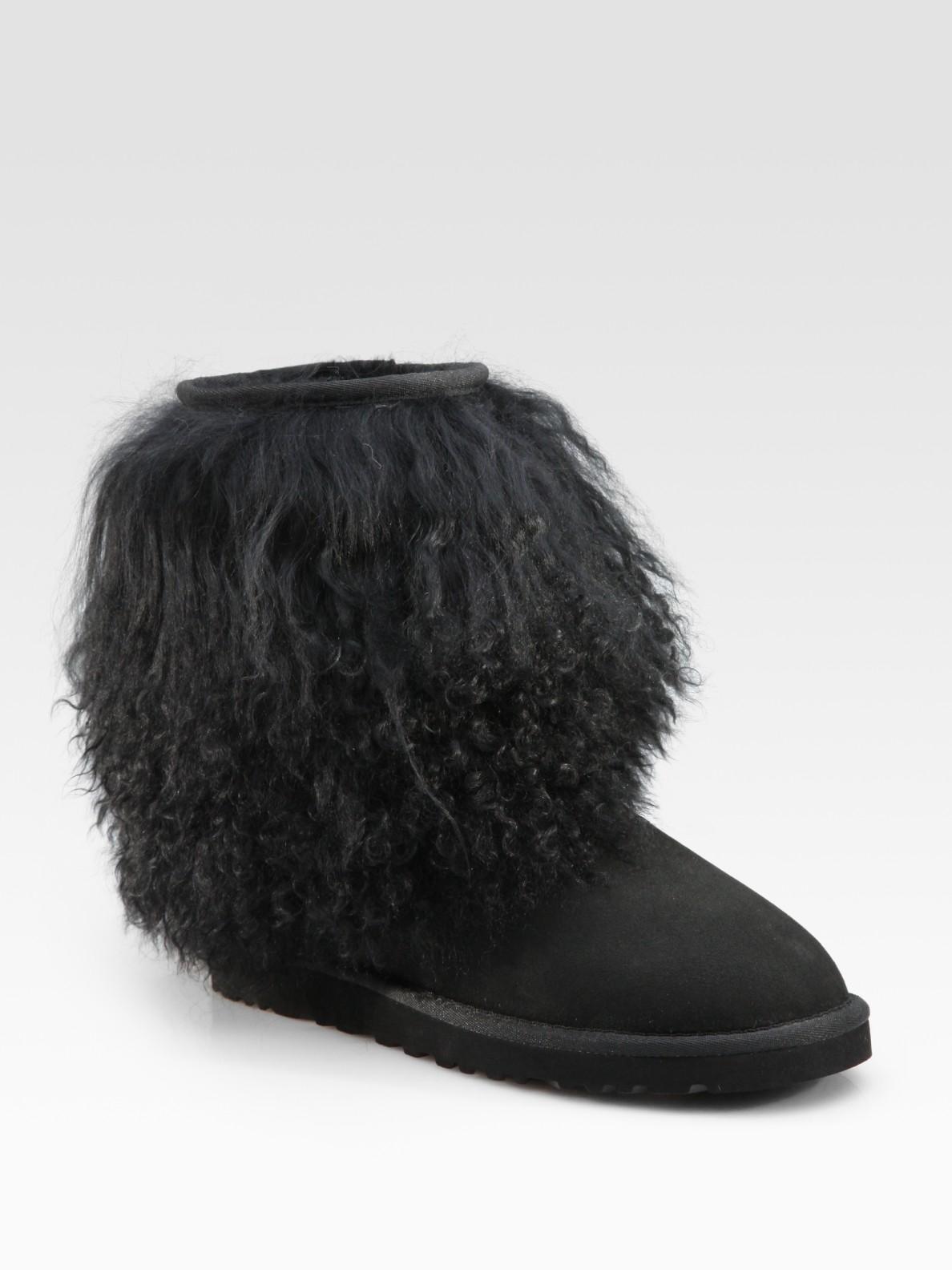 black sheepskin ugg boots