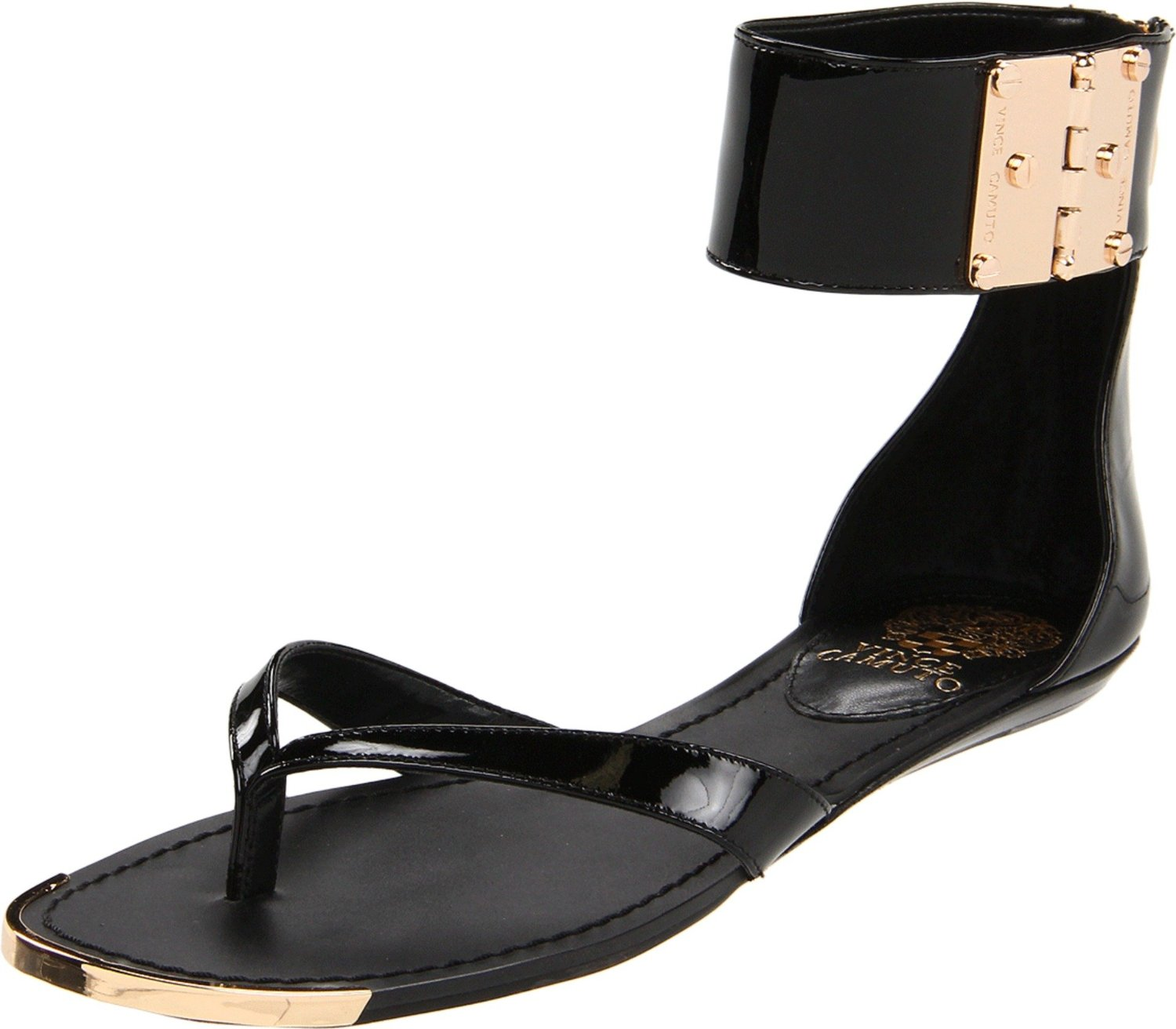 Vince Camuto Kastern Flat Sandals In Black Lyst