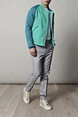 Balenciaga Technical Scuba Bomber Jacket in Green for Men (teal) - Lyst