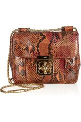 Chloé Elsie Python Shoulder Bag - Lyst