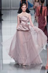 Dior Fall 2012 Peplum Sheer Plisse Evening Gown - Lyst