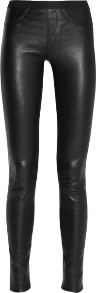 Helmut Lang Stretchleather Skinny Pants in Black - Lyst