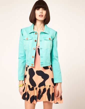 House Of Holland Bleach Denim Jacket with Zip Off Sleeves - Lyst