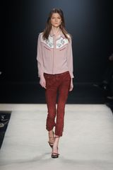 Isabel Marant Fall 2012 Suede Corset Laced Cropped Pants  - Lyst
