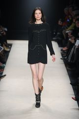 Isabel Marant Fall 2012 Black Mini Dress With Gold MicroStud Applique in Black - Lyst
