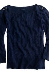 J.Crew Linen Cable-knit Sweater - Lyst