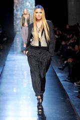 Jean Paul Gaultier Fall 2012 Black Satin Boyfriend Trousers