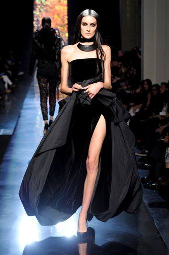 Jean Paul Gaultier Fall 2012 Velvet Lined Full Skirted Gown  - Lyst