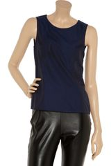 Jil Sander Cottonsateen Top in Blue - Lyst