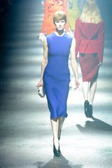 Lanvin Fall 2012 Sleeveless Mid-Length Blue  Dress in Molding Neoprene - Lyst