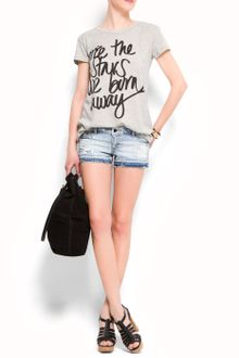 Mango Message Print T-shirt - Lyst