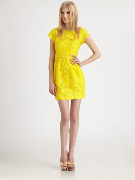 Nanette Lepore Vamos Dress in Yellow (sunflower) - Lyst