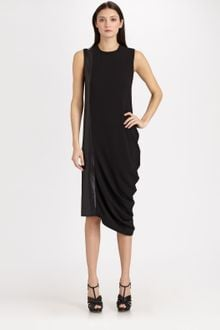 Neil Barrett Drape Dress - Lyst
