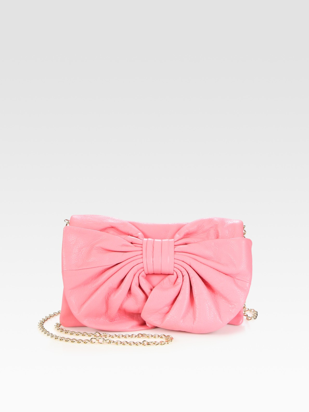 69b3a09735 RED Valentino Bow & Chain Strap Shoulder Bag in Pink - Lyst