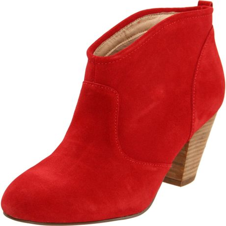 Unique  Boots  Lucky Brand  Lucky Brand Nolan Red Leather Women39s Ankle