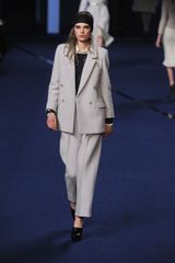 Sonia Rykiel Fall 2012 HighWaisted Tapered StraightLeg Trousers in Cream in Gray - Lyst