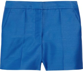 Stella McCartney High-waisted Wool and Silk-blend Shorts - Lyst