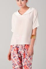 Tucker Peter Pan Collar Blouse - Lyst