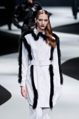 Viktor & Rolf Fall 2012 Tailored Coat with Mink Trim - Lyst