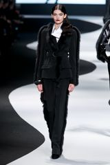 Viktor & Rolf Fall 2012 Tailored Trousers with Mink Trim - Lyst