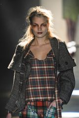 Vivienne Westwood Fall 2012 Strap Detail Plaid Top