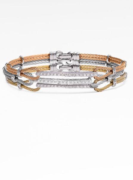 Charriol Classique Diamond Id Bracelet In Pink Blush Lyst