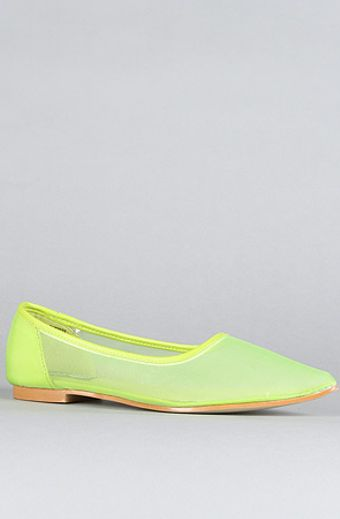 Cheap Monday The Point Net Shoe in Neon Green - Lyst