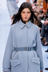 Chloé Fall 2012 Pastel SaddlePocket Wool Coat  in Blue - Lyst
