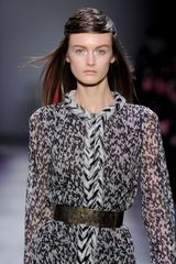 Giambattista Valli Fall 2012 Wool Blend ThickKnit Cardigan Dress  in Black (black, grey, white) - Lyst