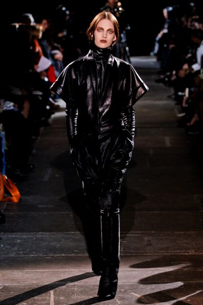 Givenchy Fall 2012 Black Long Leather Gloves in Black - Lyst