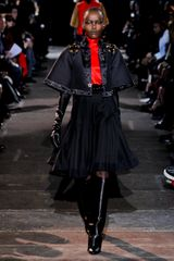 Givenchy Fall 2012 Black Cropped Coat With Kimono Sleeves & Star Applique Work in Black - Lyst