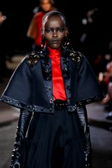 Givenchy Fall 2012 Black Cropped Coat With Kimono Sleeves & Star Applique Work - Lyst