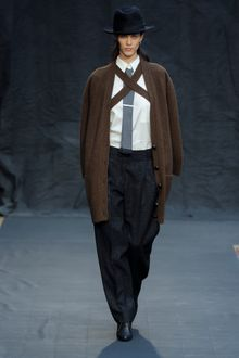 Hermes Fall 2012 Oversized Slouchy Brown Knitted Cardigan  - Lyst