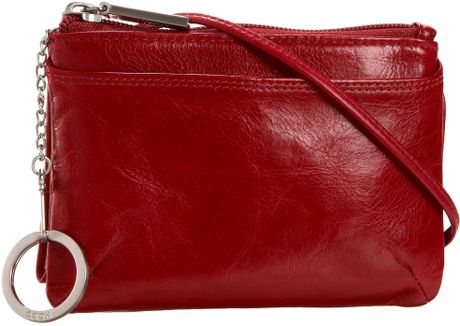 Hobo International Aggie Cross Body Wallet in Red (scarlet)