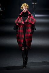 John Galliano Fall 2012 Two Toned Sleeveless Coat With Oversized Collar in Black - Lyst