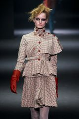 John Galliano Fall 2012 Brown Pleated & Tailored Mini Skirt - Lyst